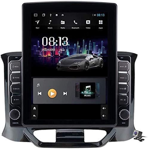 Pantalla Vertical 9.7 Pulgadas Android 8.1 Reproductor MP5 Navegación GPS para Lada X Ray 2015-2019, Soporte DSP/FM Stereo Car Radio/BT Llamadas Manos Libres/Volante