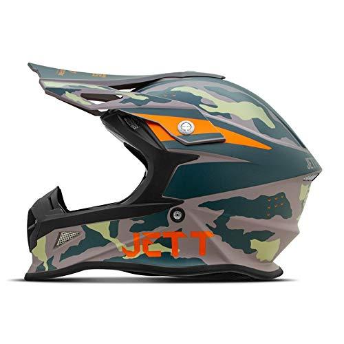 Capacete Motocross Jett Cross Fast Factory Edition 3 Verde/Laranja Tam. 60