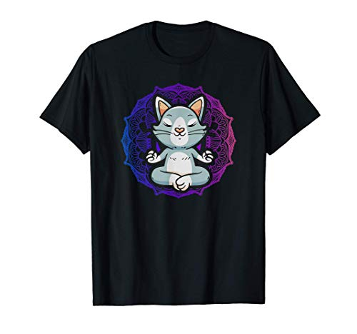 Sweet Yoga Cat I Suerte y Equilibrio Yoga Cat Camiseta