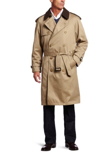 Hart Schaffner Marx Men's Burnett Trench Coat, Tan, 42 Regular