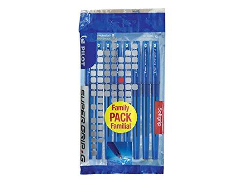 Pilot Supergrip G Set de 8bolígrafos de punta fina, color azul