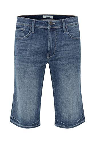 Blend Denon Short en Jean Pantalon Court Denim pour Homme Extensible Coupe Régulaire, Taille:S, Couleur:Denim Lightblue (76200)