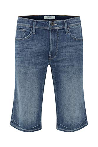 Blend Denon Short en Jean Pantalon Court Denim pour Homme Extensible Coupe Régulaire, Taille:S, Couleur:Denim Lightblue (76200)