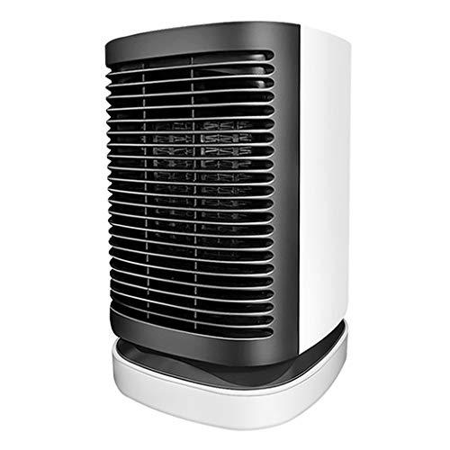 XJJZS Blanco Principal móvil del Calentador, Mini portátil silencioso Mesa pequeña y rápida calentando for el hogar y la Oficina