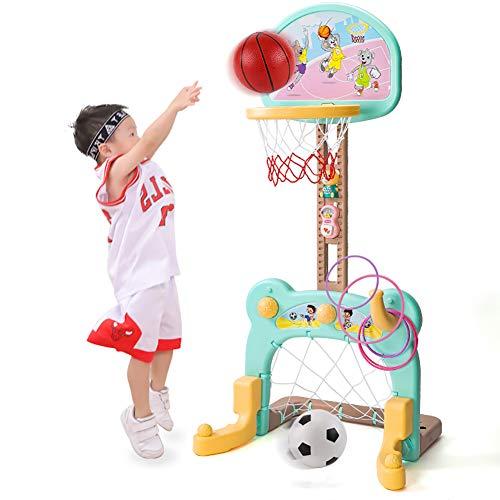 De Baloncesto de Interior para niños pequeños, Soporte de aro de Baloncesto elevable para niños | Aro de Baloncesto Little Tikes para Regalo de cumpleaños de niña niño,Verde