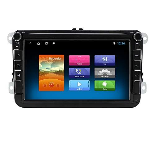 Autoradio Android 10 Quad Core con touchscreen da 7 pollici compatibile con Volkswagen/Skoda/Seat, supporto stereo Bluetooth WIFI USB Mirror Link Controllo del volante