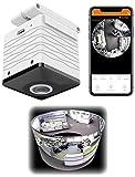 7links 360 Grad Kamera: Mini-Akku-HD-Überwachungskamera mit 360°, 960p, Nachtsicht, WLAN, App (IP Kameras)