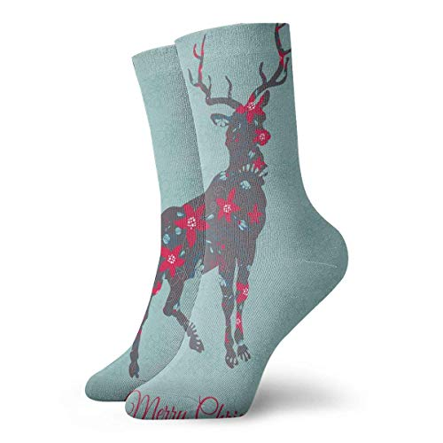 Lustige Socken Weihnachtskarte Gedruckt Sport Athletic Socken 30Cm Lange Personalisierte Geschenksocken