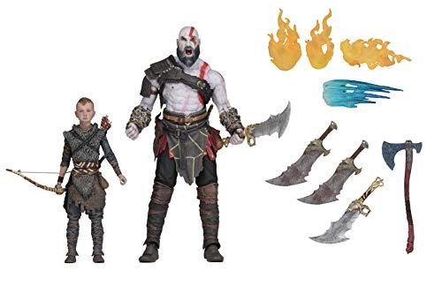 Neca - God of War, Set mit 2 Figuren, Kratos & Atreus, mehrfarbig (NECA49326)