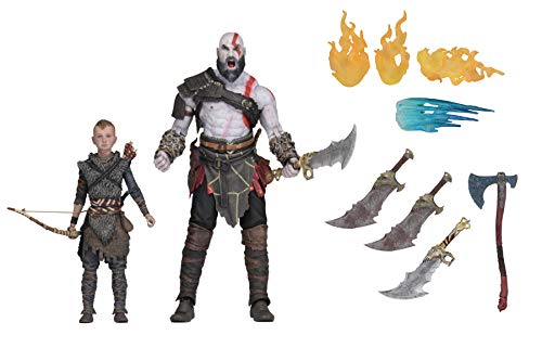 NECA- God of War Pack 2 Figuras Kratos & Atreus, Multicolor (NECA49326)