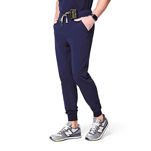 FIGS Tansen Jogger Style Pants for Men - Navy Blue, XL