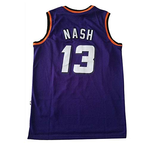 HJSW Maglia da Basket NBA Uomo, Vintage Swingman Jersey, Steve Nash #13, Maglie Canotta NBA Tuta da Basket Pallacanestro Uniforme, S-XXL, Z005MK (Color : Style-3, Size : S)