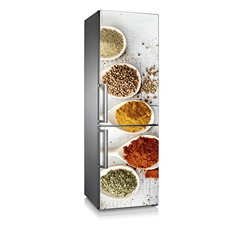 Vinilo para nevera   Stickers Fridge   Pegatina Frigo   Spices spoon (185x60)