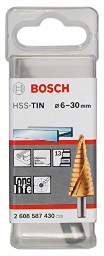 Bosch 2608587430 - Punta a gradini attacco triangolare per passacavi lunghezza 93,5 mm Exécution HSS-TIN