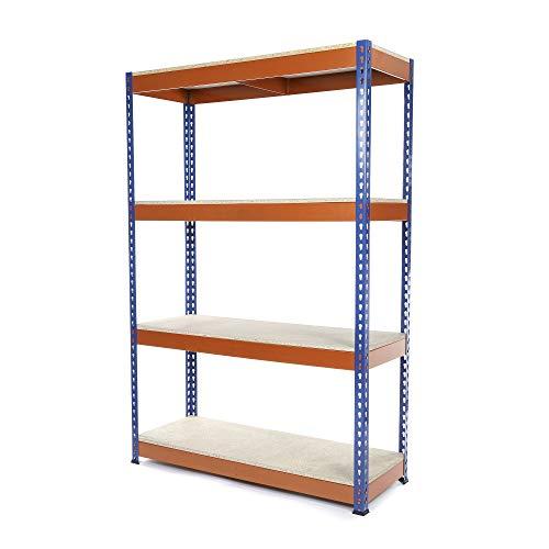 Racking Solutions - Estantería/Estante del garaje/Sistema de almacenamiento de acero, cargas pesadas, capacidad de carga total 1600kg (4 niveles 1800mm Al x 900mm An x 600mm Pr) + Envío gratis