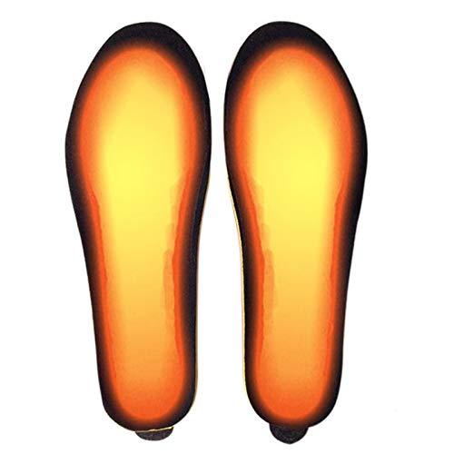 Bestine Semelles chauffantes Rechargeables, Semelles chauffantes électriques Rechargeables avec télécommande pour Femmes Hommes pour la Chasse d'hiver Ski pêche randonnée (Noir,41-46)