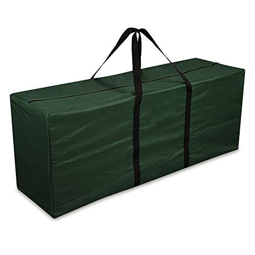 FIDOOVIVIA Gartenmöbel-Aufbewahrungstasche, wasserdicht, leicht, Handtasche für den Garten, Kissen (grün)