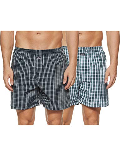 Jockey Men's Cotton Boxers (Pack of 2)(1222-0210-ASSTD Boxer Shorts M) (Color & Prints May Vary)