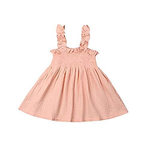 Houfung 1–5 Jahre süßes Kleid für Kleinkinder, Baby, Mädchen, Prinzessin, Festzug, Hochzeit, Schlinge Gr. 18 Monate, rose