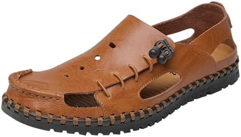 Bitiger Mens Closed Toe Columbus Dallas Mall Mall Leather Outdoor Sporty Sandals Fisherman