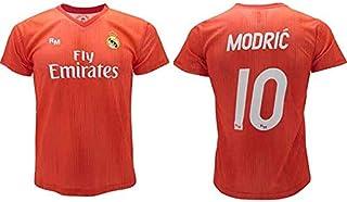 Camiseta oficial Real Madrid Modric roja Third 2018 2019 en blíster regalo