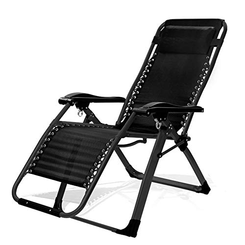 FDY Chaise De Camping Pliable Portable Poids Léger Durable Siège Extérieur Parfait pour Sieste Camping Pêche Sortie Temps Libre dans Le Jardin Barbecues,Classic Black