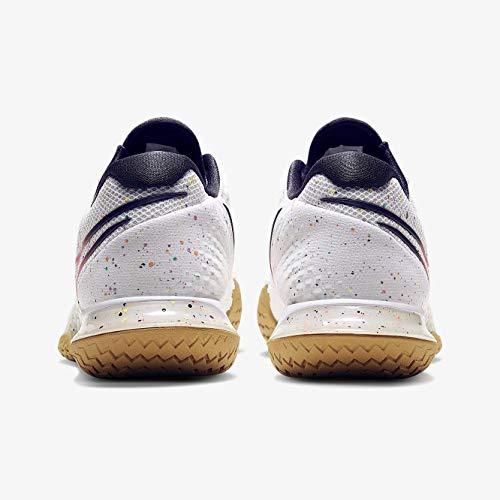 Nike Nikecourt Air Zoom Vapor Cage 4, Scarpa da Tennis Uomo, Bianco/Parrilla/Trigo/Carmesí Láser, 46 EU