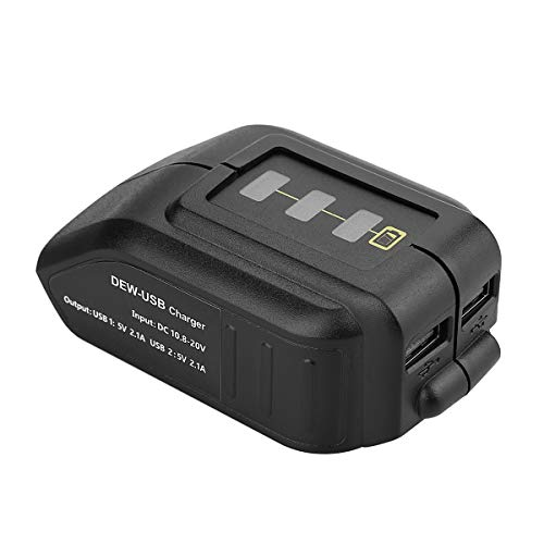 Energup 10,8 ~ 18 V/20 V Li-Ion Convertitori Adattatore USB per Dewalt DCB182 DCB184 DCB183 DCB185 DCB205 e altre batterie Dewalt 10,8 ~ 18 V/20 V