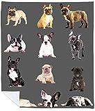 French Bulldog Blanket – French Bulldog Gift – French Bulldog Blanket Throw – French Bulldog Blankets – Sherpa Fleece – Frenchie Gifts – French Bulldog Bed Accessories