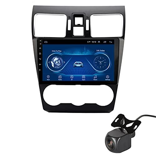 GLXQIJ para Subaru Forester 2016-2018 Android 10.0 FM Radio Receptor Auto Audio Player Coche Estéreo De 9 Pulgadas Pantalla Táctil Monitor GPS Navegación, 4 Core +WiFi, con Camara Trasera,2+32G