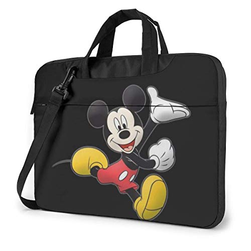 14 Inch Laptop Bag Mickey and Minnie Mouse Laptop Briefcase Shoulder Messenger Bag Case Sleeve