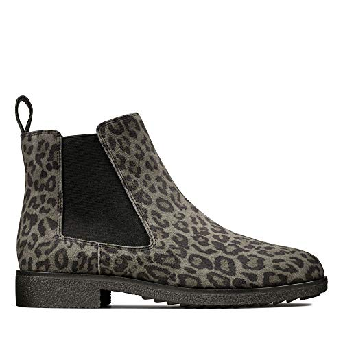 Clarks Damen Griffin Plaza Chelsea Boots, Mehrfarbig (Leopard Print), 38 EU