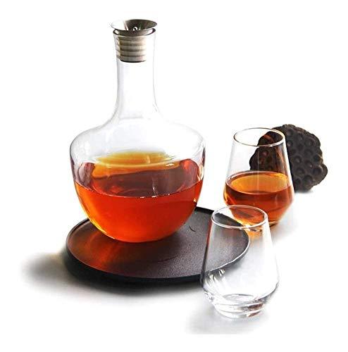 Whisky Decanter Whisky Decanter Jarrafe con tapón, Aerador de vinos tintos 100% Mano Vidrio sin plomo con tronco de vino, Accesorios de vino Regalo vaso cocktail WUTONG