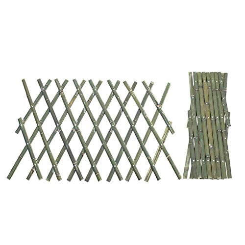 Bamboo Expansion Willow Treillis Clôture 40 180cm Panneau Barrière Extensible Palisade Jardin Extérieur Étendre Raccourcir Support Escalade Plantes Installation Facile
