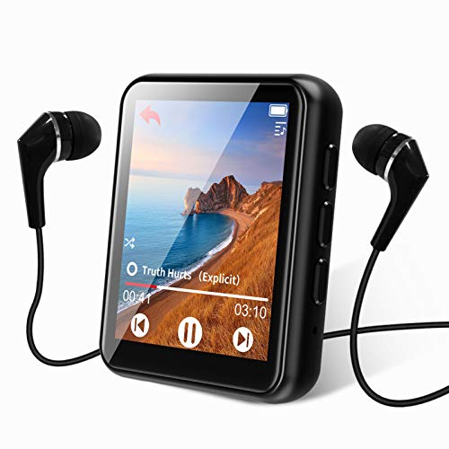 MP3 Player Bluetooth 5.0 Touch Screen Music Player 16GB Portable MP3 Player with Speaker high Fidelity Lossless Sound Quality mp3 FM Radio Recording e-Book 1.8 inch Screen MP3 Player Support (128GB)