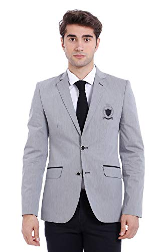 Wessi Herren Blazer Business Suit Jacket, Gris, 44 Mens