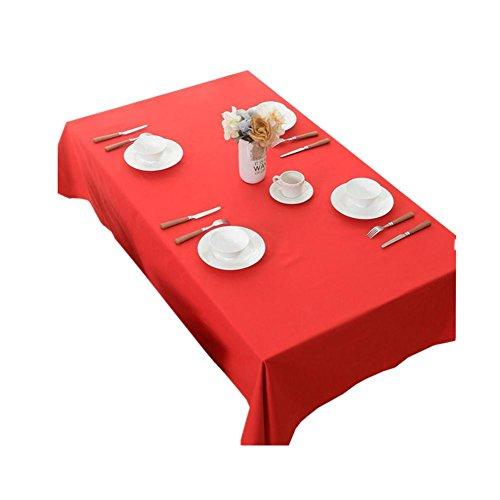 rouge Nappe de table Coton Toile Fonds d'écran Style de campagne Marier Tissu de bureau Tissu de couverture Tissu à café Noël , red , 140*140cm