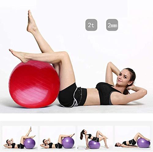 DJFT Pilates Yoga Ball Übungen Gymnastikball Entbindungskugel Swiss Ball 85cm PVC verdickte Antistoß mit Luftpumpe for Home Office Fitness Balance Trainings Weight Loss Geburt Assisted Kugel