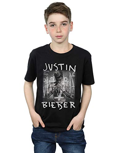 Justin Bieber Jungen Purpose Album Cover T-Shirt 12-13 Years Schwarz
