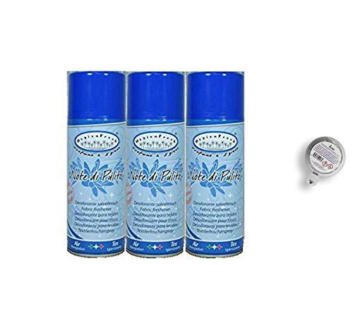 HygienFresh Musgo Blanco Desodorante Spray para tejidos, ropa, cortinas, sofás, zapatos y en ambiente, 400 ml (Notas de limpieza)