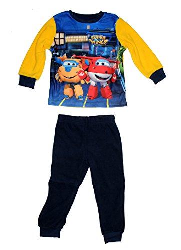 Super Wings - Pijama de forro polar para niño (3 años), color amarillo