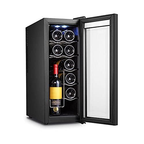 YHLZ Enfriador De Vino De 12 Botellas Termostato Enfriador De Vino Hogar Enfriador De Vino Pequeño Pequeño Bar De Hielo Vino Tinto Refrigerado Enfriador De Vino Electrónico