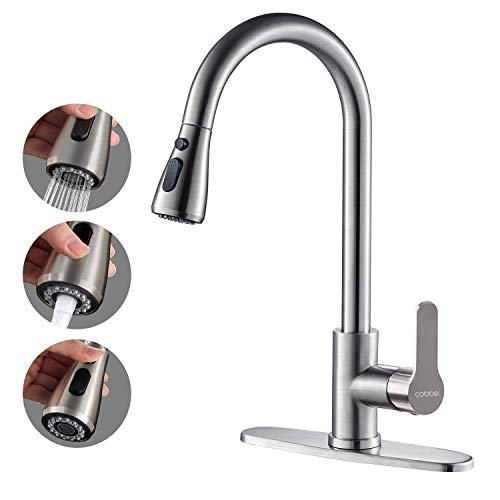 Kitchen Faucet with Pull Down Sprayer, Cobbe High...