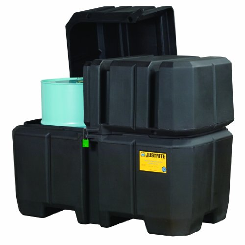 Save %16 Now! Justrite 28683 60 x 39 x 47 (LXWXH) Black Double Drum Collection Center
