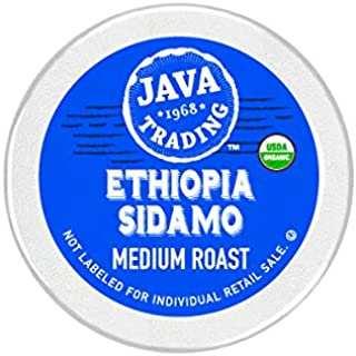 Java Trading Company Organic Single Serve Cups 100% Organic Arabica Coffee, Ethiopia Sidamo, 10 Count