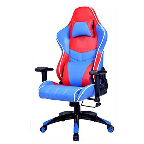 luckyW Silla ergonómica para Oficina en casa Respaldo Alto Ajustable Giratorio