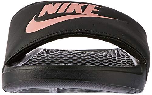 Nike Benassi JD, Sandal Mujer, Multicolor (Black Rose Gold), 36.5 EU