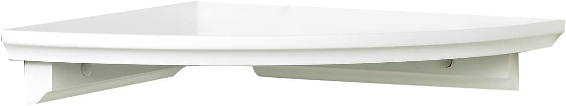 Lewis Hyman 0199020 W x 10 in D x 1.88 in H, White InPlace Shelving Corner Shelf Kit, 10 in W x 10 in D x