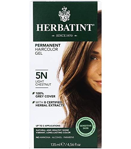 Herbatint Permanent Haircolor Gel, 5N Light Chestnut (5N) 4.56 Fl Oz