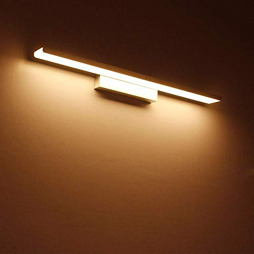 NBVCX Home Decoration 24in / 32W Silber Modern Vanity Light Down LED-Spiegel Frontleuchte für Badezimmer Beauty Makeup Wandleuchten |Schlafzimmer Spiegel Wandleuchte Lampen (Farbe: Weiß Lihgt)